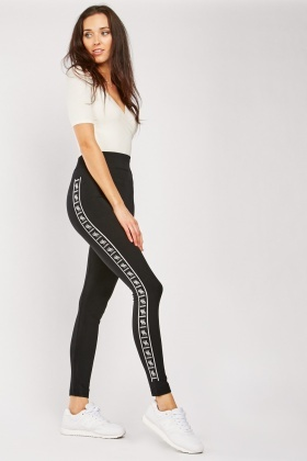Logo Side Sports Leggings