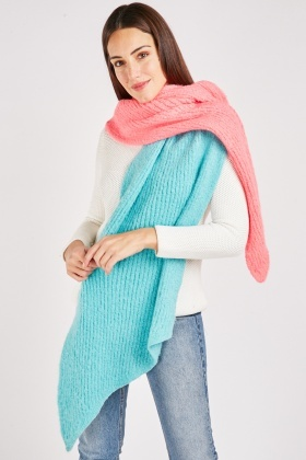 Two Tone Chunky Scarf