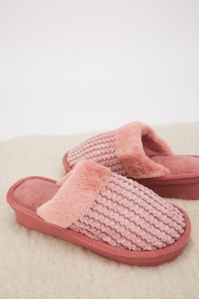 Borg Fleece Indoor Slippers $6.90