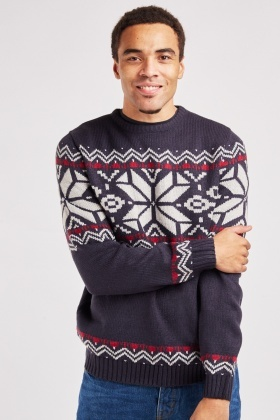 Christmas Print Knit Jumper