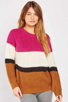 Colour Block Chunky Jumper $6.90