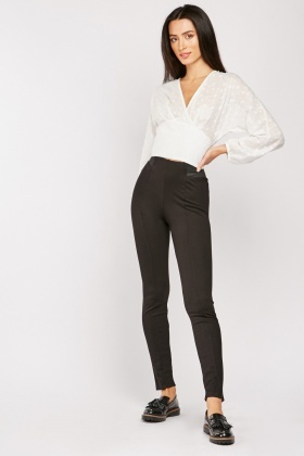 Elasticated Waist Panel Skinny Trousers $6.90