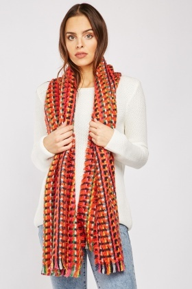 Multi-Coloured Weaved Scarf $6.90