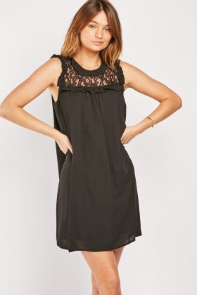Lace Dress Sleeveless Smock Dress