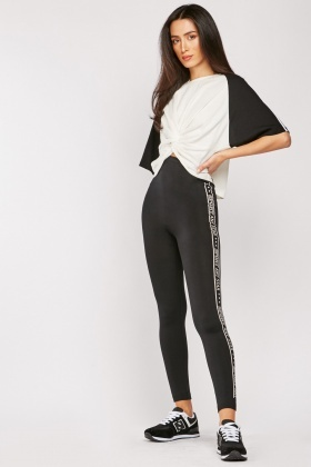 Logo Side High Waist Leggings