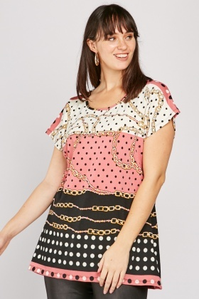 Chain Polka Dot Top