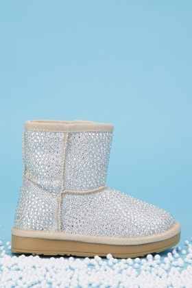 Kids Encrusted Lurex Boots