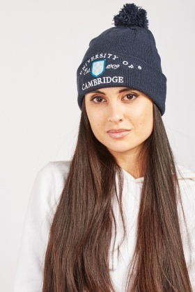 Unisex University Embroidered Beanie Hat
