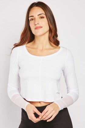 White Jersey Crop Top