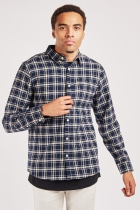 Checked Button Up Shirt