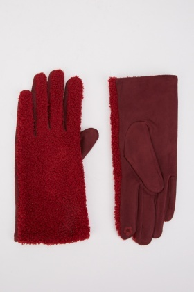 Mongolian Fur Touch Gloves