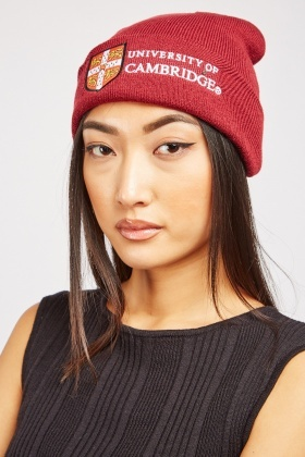 Unisex Logo Embroidered Beanie Hat