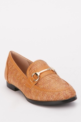 Weave Pattern Loafers