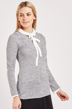 Pussybow Peter-Pan Collar Top