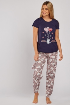 Balloon Print Pyjama Set