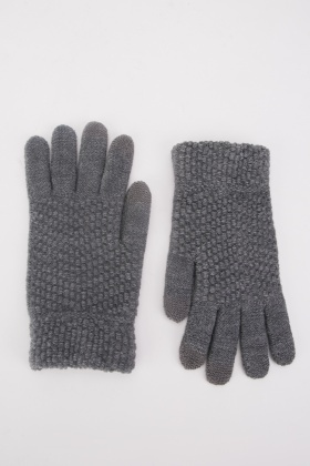 Chunky Textured Touch Gloves