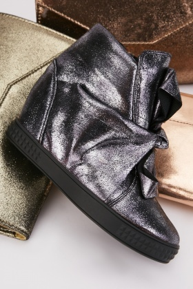 Shimmery Wedge Shoes