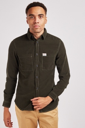 Long Sleeve Cotton Cord Shirt