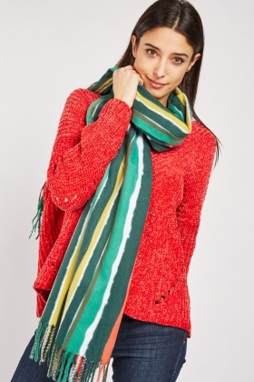 Candy Striped Woven Scarf