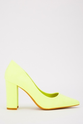 Block Pointed Toe Heels