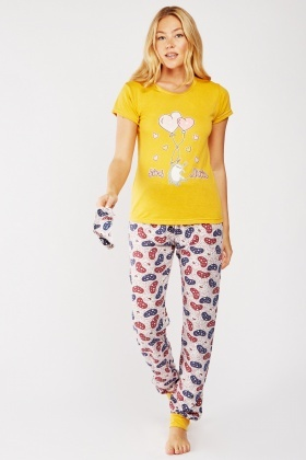 Balloon Bunny Print Pyjama Set
