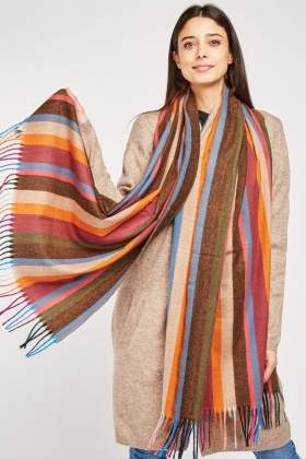 Multi Striped Long Scarf