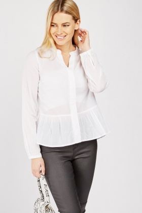 White Peplum Blouse