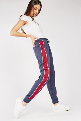 Colour Block Tracksuit Bottoms