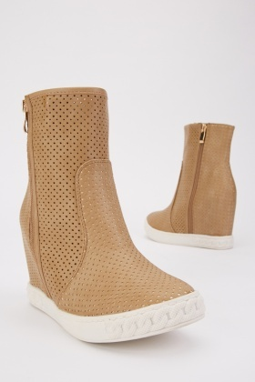 Laser Cut Wedge Shoes