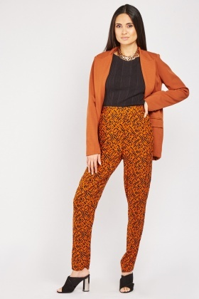 Scattered Print Basic Trousers