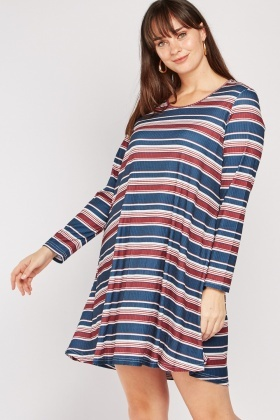 Mini Striped Flared Dress