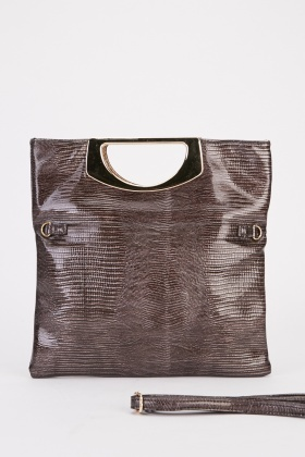 Textured Metal Plated Handle Bag