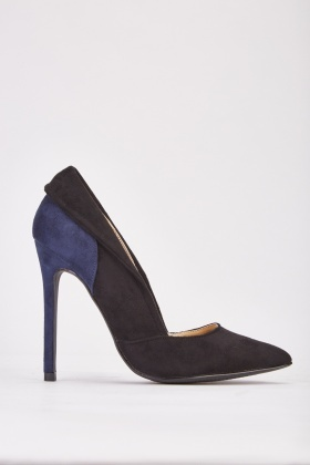 Two Tone Suedette Heels