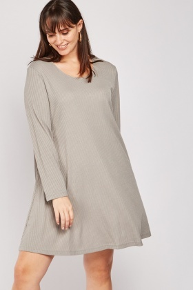 Scoop Neck Ribbed Dress
