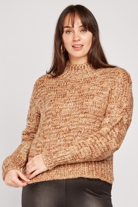 Basket Weave Pattern Knit Jumper