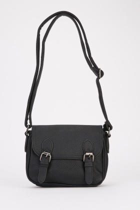 Double Buckle Strap Satchel Bag