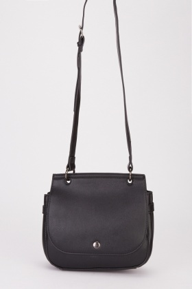 Faux Leather Classic Shoulder Bag