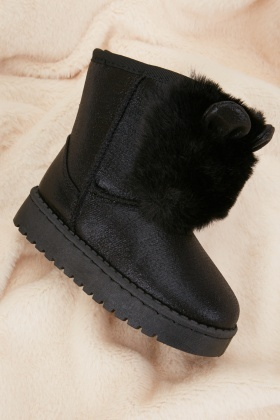 Shimmery Kids Winter Boots