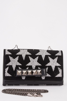 Encrusted Star Clutch Bag