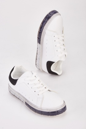 Encrusted Trim Chunky Trainers