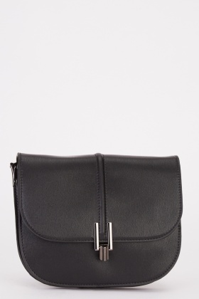 Textured Flap Over Bag