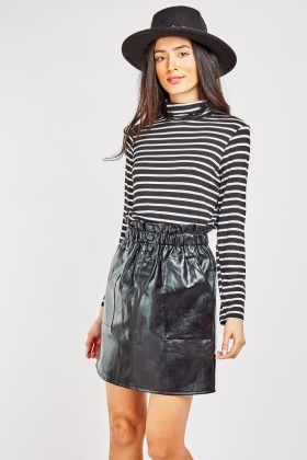 Paperbag Waist Mini Skirt