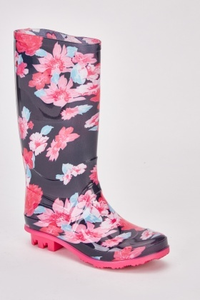 Floral Kids Wellie Boots $7.00