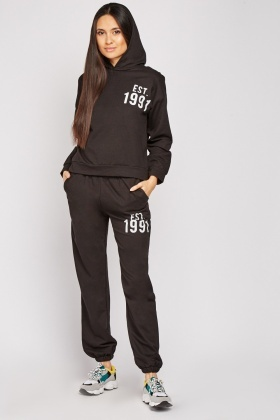 Cotton Hoodie And Jogging Bottoms Set