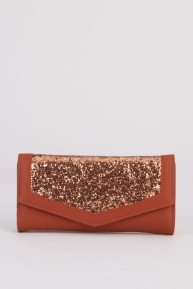 Glitter Encrusted Envelope Purse