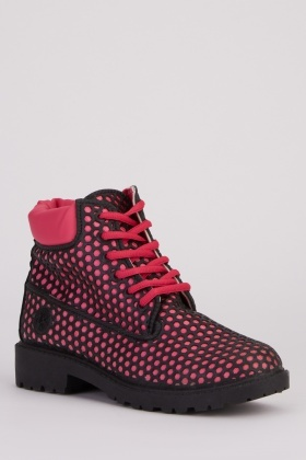 Perforated Mesh Ankle Boots