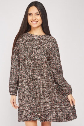 Speckled Print Smock Dress