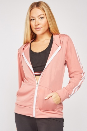 Striped Zip Up Casual Jacket $7.00