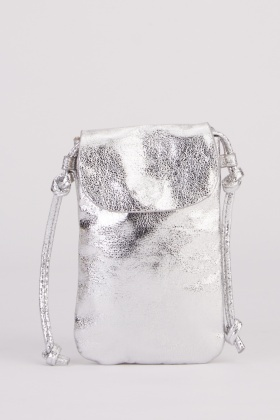 Metallic Crossbody Festival Phone Bag