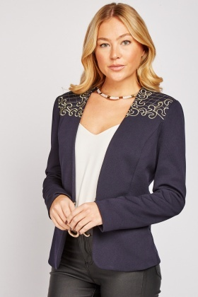 Embroidered Fitted Blazer $7.00